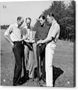 Golfers, 1938 Acrylic Print