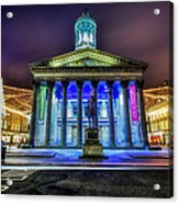 Goma Glasgow Lit Up Acrylic Print by John Farnan