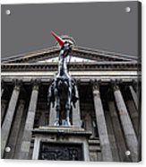 Goma Glasgow Pop Art Grey Acrylic Print
