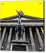 Goma Pop Art Yellow Acrylic Print by John Farnan