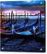 Gondola At Rest Acrylic Print