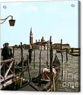 Gondola Dock Acrylic Print