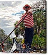 Gondola Ride In City Park New Orleans Acrylic Print
