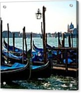Gondolas At Rest Acrylic Print