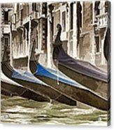 Gondolas-in-waiting   Venice Acrylic Print