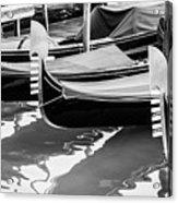 Gondolas Acrylic Print by Luis Alvarenga