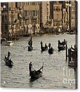 Gondolas On The Grand Canal Acrylic Print
