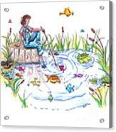 Gone Fishing Acrylic Print by Kelly Walston