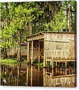 Gone Fishing On Caddo Lake Acrylic Print
