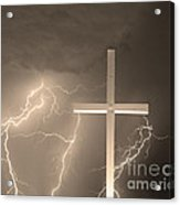 Good Friday In Sepia Acrylic Print