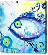 Good Luck Fish Abstract Acrylic Print