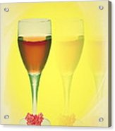 Good Wine Valentine Card Acrylic Print