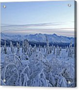 Goodnight Chugach Acrylic Print