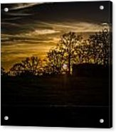 Goodnight Ranch Acrylic Print by Kelly Kitchens