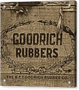 Goodrich Rubbers Boot Box Acrylic Print by Tom Mc Nemar