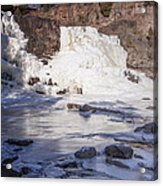 Gooseberry Middle Falls In Winter Acrylic Print
