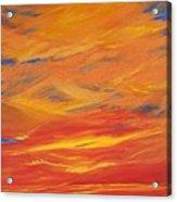 Gooseberry Point Skyfire Acrylic Print