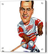 Gordie Howe Acrylic Print by Art