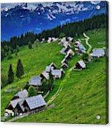 Goreljek Shepherding Village In Alpine Acrylic Print