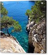 Gorge At Calanque De Port Miou In Cassis France Acrylic Print