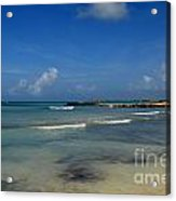Gorgeous Beach In Aruba Acrylic Print