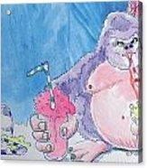 Gorilla Cartoon Acrylic Print