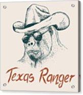 Gorilla Like A Texas Ranger Dressed In Acrylic Print