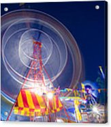Gosford Ferris Wheel Acrylic Print by Steve Caldwell