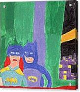 Gotham Heroes  Acrylic Print