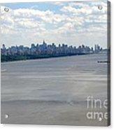 Gotham On The Hudson Acrylic Print by David Bearden