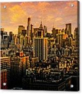 Gotham Sunset Acrylic Print