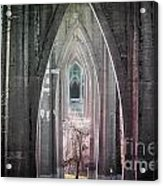 Gothic Arches Hands Folded In Prayer Acrylic Print