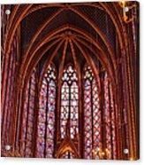 Gothic Architecture Inside Sainte Acrylic Print