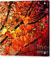 Gothic Autumn Leaves Acrylic Print