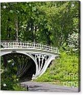 Gothic Bridge In Central Park Acrylic Print