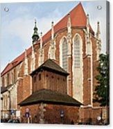 Gothic Church Of St. Catherine In Krakow Acrylic Print