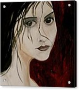Gothic Portrait Of Woman Painting Acrylic Print