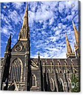 Gothic Revival Style St Patrick's Cathedral In Melbourne Acrylic Print