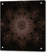 Gothic Stained Glass - Sepia Acrylic Print
