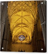 Gothic Vault Of The Seville Cathedral Acrylic Print