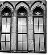 Gothic Windows - Black And White Acrylic Print