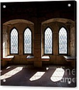 Gothic Windows Of The Royal Residence In The Leiria Castle Acrylic Print