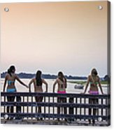 Goulds Creek Girls Acrylic Print
