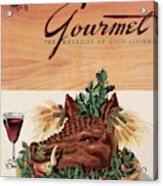 Gourmet Cover Featuring A Boar's Head Acrylic Print