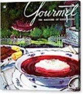 Gourmet Cover Featuring A Bowl Of Borsch Acrylic Print