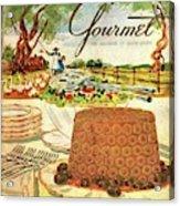 Gourmet Cover Featuring A Buffet Farm Scene Acrylic Print