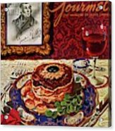 Gourmet Cover Featuring A Plate Of Tournedos Acrylic Print