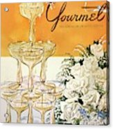Gourmet Cover Featuring A Pyramid Of Champagne Acrylic Print