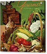 Gourmet Cover Featuring A Variety Of Vegetables Acrylic Print