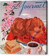 Gourmet Cover Illustration Of A Basket Of Popovers Acrylic Print